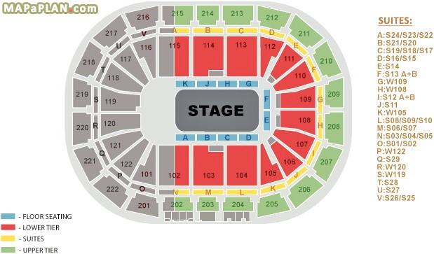 Arena Seating Plan