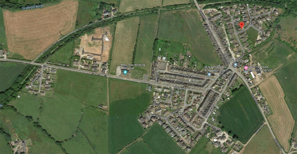 Satellite map of Moore Row in Cumbria