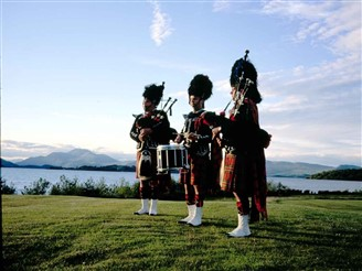 Pipers In Scotland